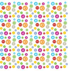 colorful circle accountant business circle vector image
