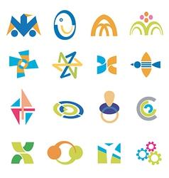 Company icons symbols vector image
