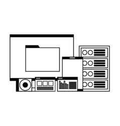 Computer mobile database server compact disk vector