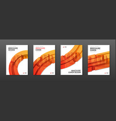 corporate brochure covers design layouts set vector image