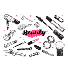 cosmetics and beauty background 2 vector image
