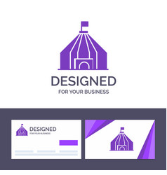 creative business card and logo template tent vector image