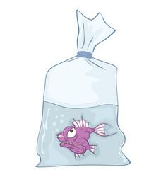cute aquarium fish cartoon vector image