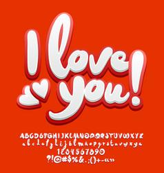 Cute greeting card i love you vector