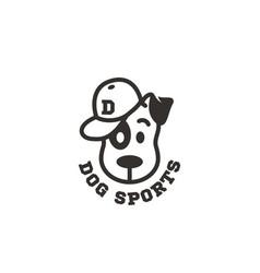 dog sports logo vector image
