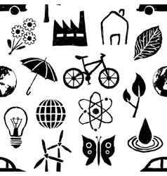 Doodle environment seamless pattern vector