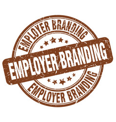 Employer branding brown grunge stamp vector