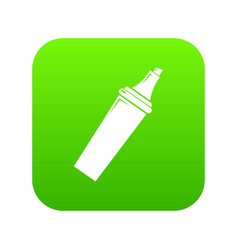 Felt tip pen icon green vector