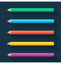 Flat pencils vector image