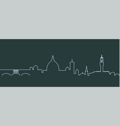 Florence single line skyline vector