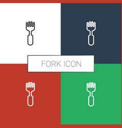 Fork icon white background vector