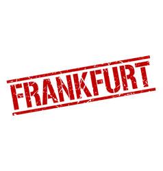 Frankfurt red square stamp vector