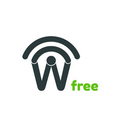 free wifi logo design template vector image vector image