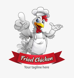 fried chicken mascot vector image