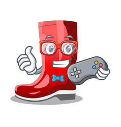 Gamer narcissus with garden boots on character vector