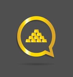 gold bars icon vector image