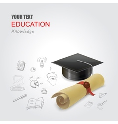 Graduation concept infographic elements design vector image