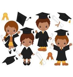 Graduation Kids02 vector