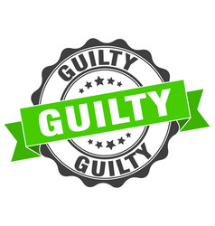 Guilty stamp sign seal vector