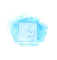 hand drawn watercolor blue texture template vector image