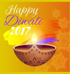 Happy diwali 2017 festival vector