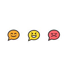 icon chat chatting comment message smiley vector image