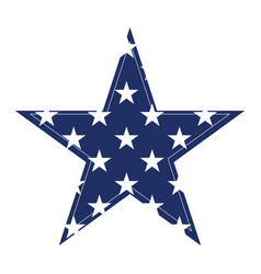 isolated blue star vector image