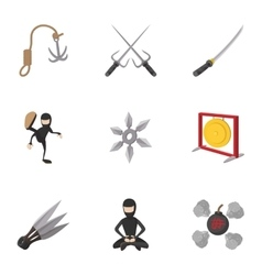 Killer icons set cartoon style vector image