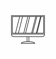 Led tv icon outline style vector image