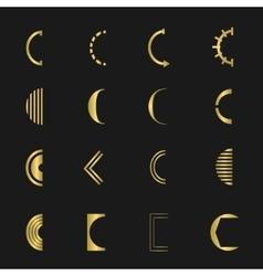 Letter C set vector image
