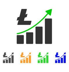 litecoin growth graph icon vector image