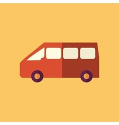 Mini van transportation flat icon vector