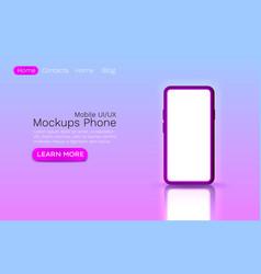 mockups ui template web site banner app screen vector image