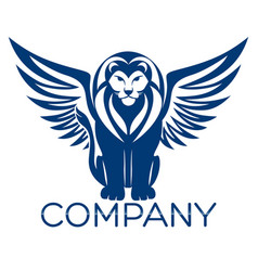 modern lion logo vector image