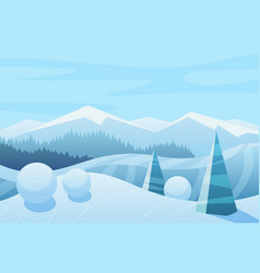 mountains and sky landscape vector image
