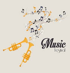 Music design over gray background vector image