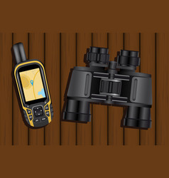 navigator and binoculars vector image