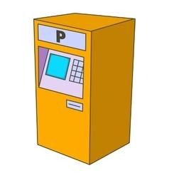 Parking fees icon cartoon style vector