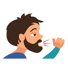 Persistent cough icon cartoon style vector