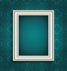 Picture frame on vintage wallpaper 0508 vector