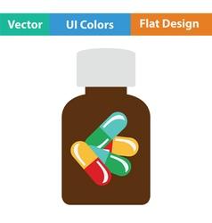 Pills bottle icon vector image
