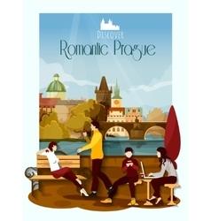 Prague Poster vector