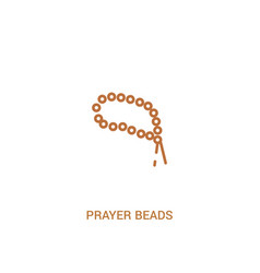 Prayer beads concept 2 colored icon simple line vector
