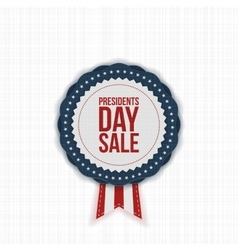 Presidents Day Sale american Label with Ribbon vector image