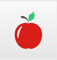 Red apple icon isolated modern simple flat fruit vector