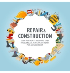 Repair and construction Collection of working vector