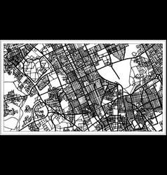 Riyadh saudi arabia city map in black and white vector
