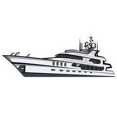 Sea yacht vector