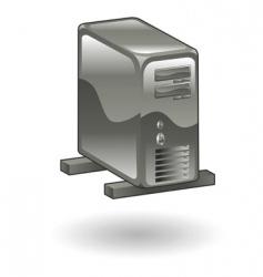 server illustration vector image vector image