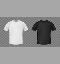 Set white and black template t-shirt vector